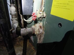 9) Corrosion & leaking at boiler