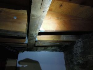 Joist deflection at basement framing