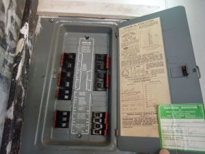 Federal Pacific Stab-Lok electric panel
